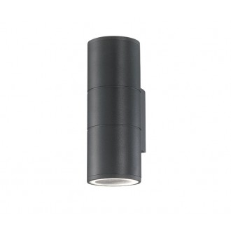 NOVA LUCE 773223 | Nodus-NL Nova Luce falikar lámpa 2x GU10 IP54 sötétszürke