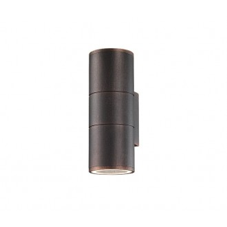 NOVA LUCE 773224 | Nodus-NL Nova Luce falikar lámpa 2x GU10 IP54 antikolt barna