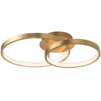 NOVA LUCE 8100282 | Leon-NL Nova Luce függeszték lámpa 1x LED 2650lm 3000K arany, fehér