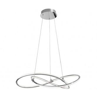 NOVA LUCE 8101141   Martino-NL Nova Luce függeszték lámpa 1x LED 3250lm 3000K króm, fehér