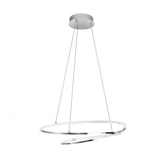 NOVA LUCE 8101201 | Viareggio Nova Luce függeszték lámpa 1x LED 2000lm 3000K króm, fehér