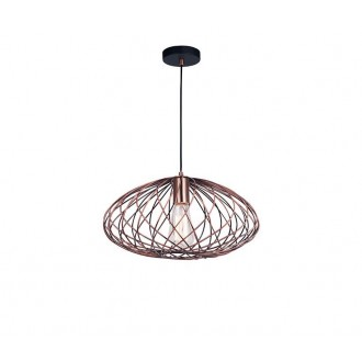 NOVA LUCE 8436420 | Eriberto Nova Luce függeszték lámpa 1x E27 vörösréz, fekete