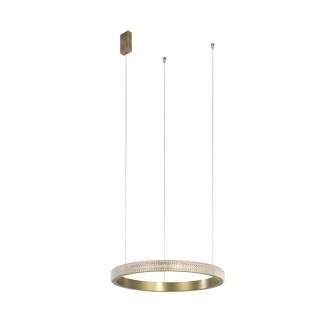 NOVA LUCE 86016803 | Orlando-NL Nova Luce függeszték lámpa 1x LED 1265lm 3000K antikolt bronz, átlátszó