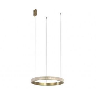 NOVA LUCE 86016804 | Orlando-NL Nova Luce függeszték lámpa 1x LED 1020lm 3000K antikolt bronz, átlátszó