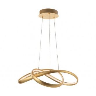 NOVA LUCE 9002602 | Ross Nova Luce függeszték lámpa 1x LED 2160lm 3000K arany, fehér