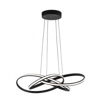 NOVA LUCE 9007802 | Treccia Nova Luce függeszték lámpa 1x LED 2800lm 3000K fekete, fehér