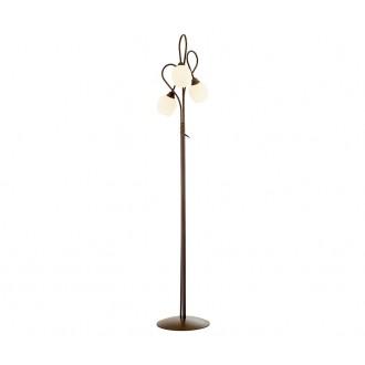 NOWODVORSKI 1512 | Miki Nowodvorski álló lámpa 180cm kapcsoló 3x E27 barna, fehér