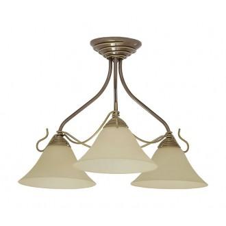 NOWODVORSKI 2997 | Victoria Nowodvorski mennyezeti lámpa 3x E27 antikolt arany, bézs