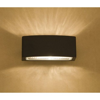 NOWODVORSKI 3408 | Brick Nowodvorski fali lámpa 1x E27 IP65 grafit, áttetsző