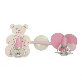 NOWODVORSKI 3657 | Honey Nowodvorski fali, mennyezeti lámpa elforgatható alkatrészek 2x E14-R50 rózsaszín, fehér