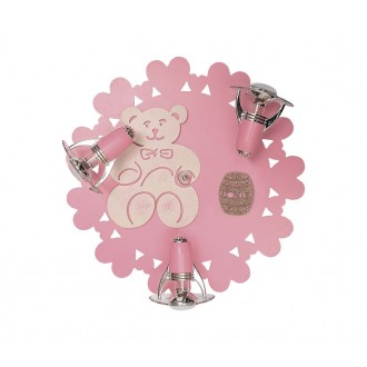 NOWODVORSKI 3661 | Honey Nowodvorski fali, mennyezeti lámpa elforgatható alkatrészek 3x E14-R50 rózsaszín, fehér