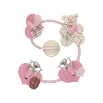 NOWODVORSKI 3662 | Honey Nowodvorski fali, mennyezeti lámpa elforgatható alkatrészek 4x E14-R50 rózsaszín, fehér