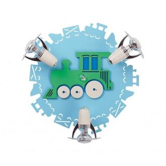 NOWODVORSKI 4064 | Train Nowodvorski fali, mennyezeti lámpa elforgatható alkatrészek 3x E14-R50 kék, fehér