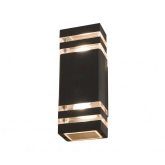 NOWODVORSKI 4424 | Rio Nowodvorski fali lámpa 2x E27 IP54 fekete, átlátszó