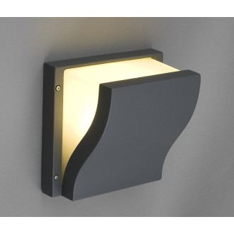 NOWODVORSKI 4438 | Makalu Nowodvorski fali lámpa energiatakarékos izzóhoz tervezve 2x E27 IP44 sötét szürke