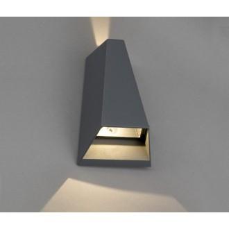 NOWODVORSKI 4441 | Peak Nowodvorski fali lámpa 2x LED 62lm 3000K IP54 szürke