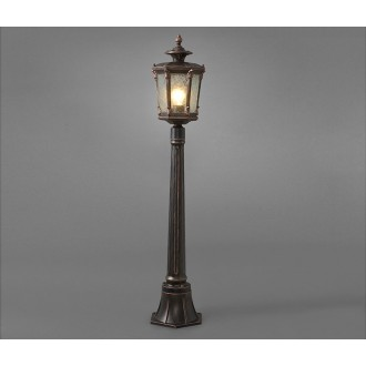 NOWODVORSKI 4694 | AmurN Nowodvorski álló lámpa 115cm 1x E27 IP44 bronzbarna, áttetsző