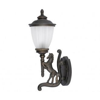 NOWODVORSKI 4901 | Horse Nowodvorski falikar lámpa 1x E27 IP44 bronz, opál