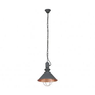 NOWODVORSKI 5053   Loft Nowodvorski függeszték lámpa 1x E27 taupe, vörösréz