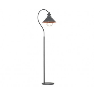 NOWODVORSKI 5056 | Loft Nowodvorski álló lámpa 179cm kapcsoló 1x E27 taupe, vörösréz