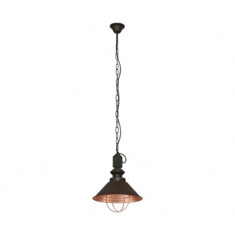 NOWODVORSKI 5057 | Loft Nowodvorski függeszték lámpa 1x E27 csokoládé, vörösréz