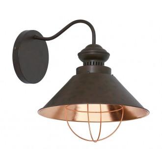 NOWODVORSKI 5058 | Loft Nowodvorski falikar lámpa 1x E27 csokoládé, vörösréz