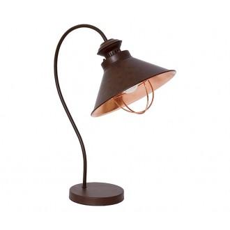 NOWODVORSKI 5060 | Loft Nowodvorski asztali lámpa 48cm kapcsoló 1x E27 csokoládé, vörösréz