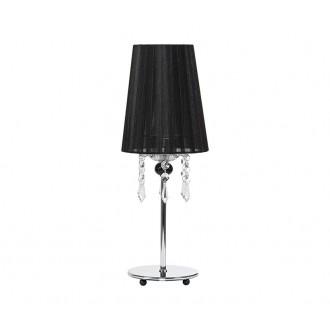 NOWODVORSKI 5262 | Modena Nowodvorski asztali lámpa 41cm kapcsoló 1x E14 króm, fekete, áttetsző