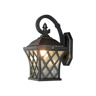 NOWODVORSKI 5292 | Tay Nowodvorski falikar lámpa 1x E27 IP23 fekete, áttetsző