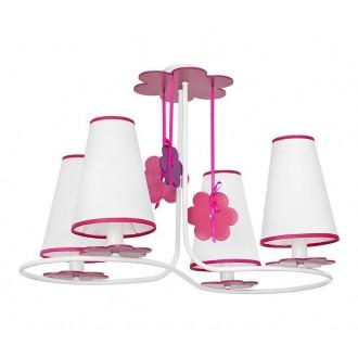 NOWODVORSKI 5303 | Praslin Nowodvorski mennyezeti lámpa 4x E14 fehér, rózsaszín, lila