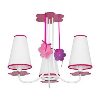 NOWODVORSKI 5304 | Praslin Nowodvorski mennyezeti lámpa 3x E14 fehér, rózsaszín, lila