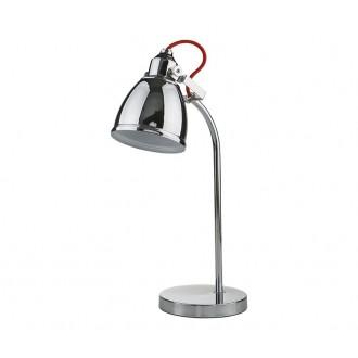 NOWODVORSKI 5311 | Axe Nowodvorski asztali lámpa 40cm kapcsoló elforgatható alkatrészek 1x E14 króm, piros