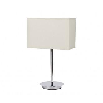 NOWODVORSKI 5476 | Hotel Nowodvorski asztali lámpa 43cm kapcsoló 1x E27 króm, fehér