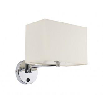 NOWODVORSKI 5522 | Hotel Nowodvorski falikar lámpa kapcsoló elforgatható alkatrészek 1x E14 króm, fehér
