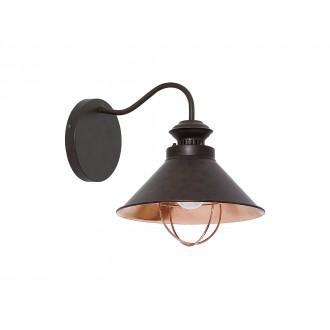 NOWODVORSKI 5664 | Loft Nowodvorski falikar lámpa 1x E27 csokoládé, vörösréz