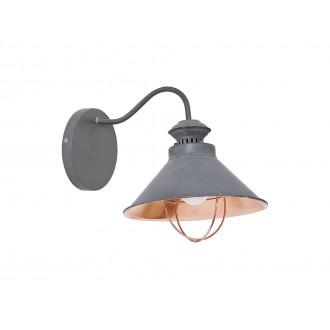 NOWODVORSKI 5665 | Loft Nowodvorski fali lámpa 1x E27 taupe, vörösréz