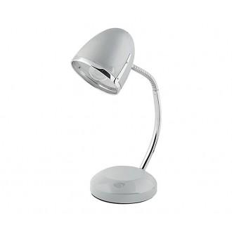 NOWODVORSKI 5795 | Pocatello Nowodvorski asztali lámpa 36cm kapcsoló flexibilis 1x E27 ezüst, króm