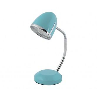NOWODVORSKI 5797 | Pocatello Nowodvorski asztali lámpa 36cm kapcsoló flexibilis 1x E27 kék, króm