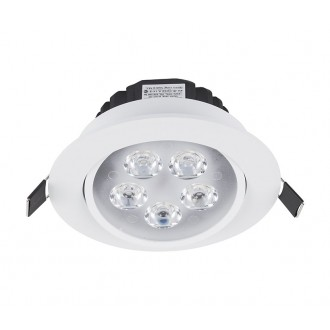 NOWODVORSKI 5958 | Ceiling-LED Nowodvorski beépíthető lámpa billenthető Ø110mm 5x LED 500lm 4000K fehér