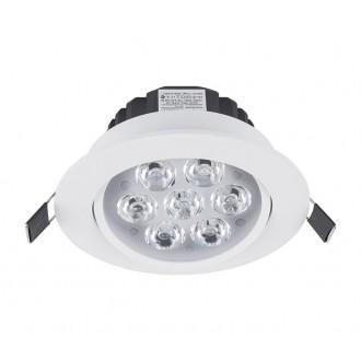 NOWODVORSKI 5960 | Ceiling-LED Nowodvorski beépíthető lámpa billenthető Ø110mm 7x LED 700lm 4000K fehér