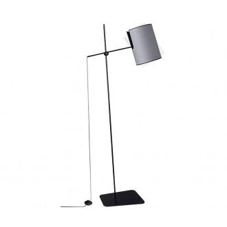 NOWODVORSKI 6010 | Zelda Nowodvorski álló lámpa 165cm taposókapcsoló elforgatható alkatrészek 1x E27 szürke, fekete