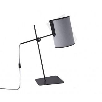 NOWODVORSKI 6012 | Zelda Nowodvorski asztali lámpa 65cm vezeték kapcsoló elforgatható alkatrészek 1x E27 szürke, fekete