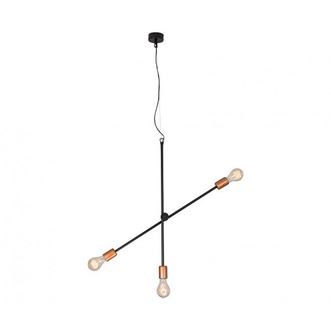 NOWODVORSKI 6268 | Sticks Nowodvorski függeszték lámpa elforgatható alkatrészek 3x E27 fekete, vörösréz