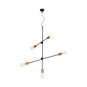 NOWODVORSKI 6270 | Sticks Nowodvorski függeszték lámpa elforgatható alkatrészek 5x E27 fekete, vörösréz