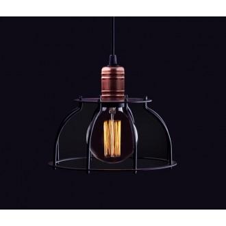 NOWODVORSKI 6335 | Workshop Nowodvorski függeszték lámpa 1x E27 fekete, vörösréz