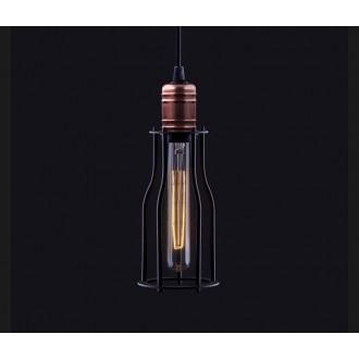 NOWODVORSKI 6337 | Workshop Nowodvorski függeszték lámpa 1x E27 fekete, vörösréz