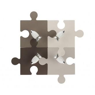 NOWODVORSKI 6382 | Puzzle Nowodvorski fali, mennyezeti lámpa elforgatható alkatrészek 4x GU10 színes, fehér, króm