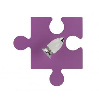 NOWODVORSKI 6383 | Puzzle Nowodvorski fali, mennyezeti lámpa elforgatható alkatrészek 1x GU10 lila, fehér, króm