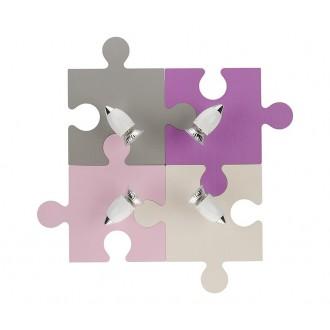 NOWODVORSKI 6384 | Puzzle Nowodvorski fali, mennyezeti lámpa elforgatható alkatrészek 4x GU10 színes, fehér, króm