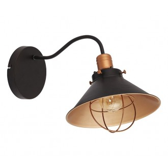 NOWODVORSKI 6442 | Garret Nowodvorski falikar lámpa 1x E27 fekete, vörösréz